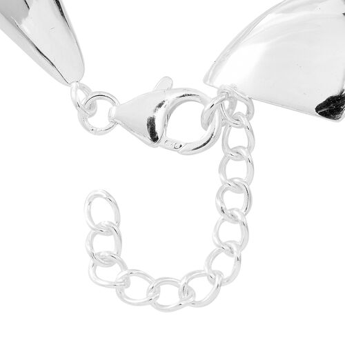 Designer Inspired-Sterling Silver Continual Wings Bracelet (Size 7 with 1.5 inch Extender), Silver wt 13.68 Gms.