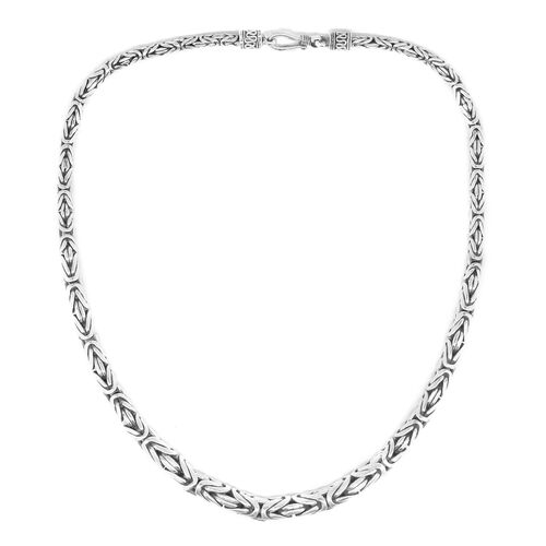 Royal Bali Collection Sterling Silver Borobudur Necklace (Size 18), Silver wt. 67.85 Gms.