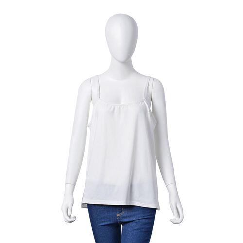 Golden, Yellow, Grey and Black Colour Stripe Pattern Poncho (Size 90x55 Cm) and White Colour Vest (Size 60x55 Cm)