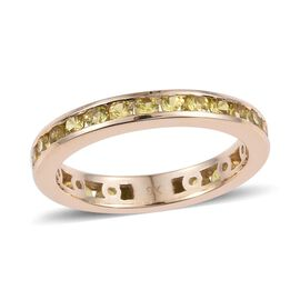 9K Yellow Gold 1.75 Carat Yellow Sapphire Full Eternity Band Ring.