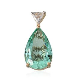 ONE OFF ILIANA 18K Y Gold AAA Boyaca Colombian Emerald (Pear 2.53 Ct), Diamond (I1/ G-H) Pendant 2.650 Ct.