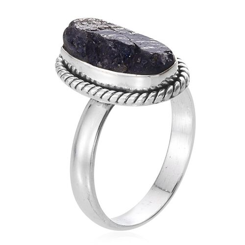 Tanzanite Solitaire Ring in Sterling Silver 7.970 Ct.