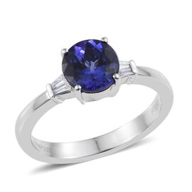 RHAPSODY 950 Platinum AAAA Tanzanite (Rnd 1.85 Ct), Diamond Ring 1.900 Ct.