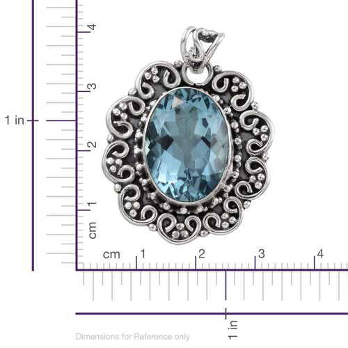 Jewels of India River Quartz (Ovl) Pendant in Sterling Silver 14.550 Ct.