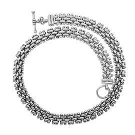 Royal Bali Collection Sterling Silver Necklace (Size 18), Silver wt 108.50 Gms.