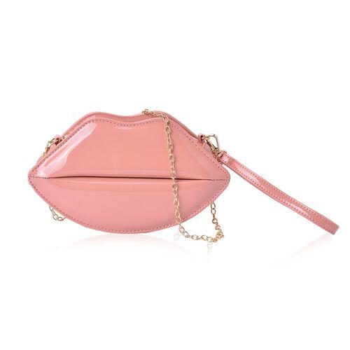 Beige Colour Lip Design Crossbody Bag with Chain Strap (Size 24.5x13.5x7 Cm)