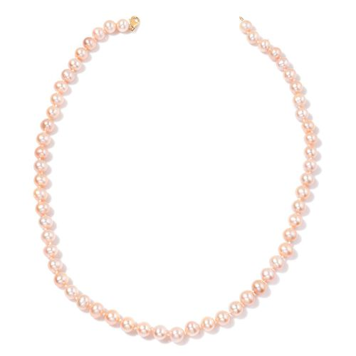 9K Y Gold Fresh Water Purple Pearl Necklace (Size 18)