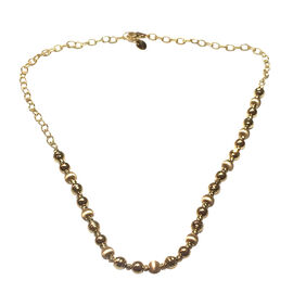 9K Y Gold Beads Necklace (Size 18 with 1 inch Extender), Gold wt 9.87 Gms.