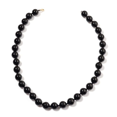 9K Y Gold Rare Black Tourmaline Necklace (Size 18) 480.000 Ct.