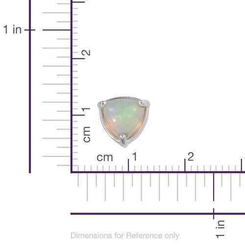 9K W Gold Ethiopian Welo Opal (Trl) Stud Earrings (with Push Back) 1.000 Ct.