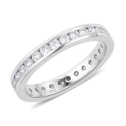 RHAPSODY 950 Platinum 1 Carat IGI Certified Diamond VVS E-F Full Eternity Band Ring