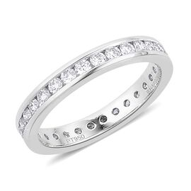 RHAPSODY 950 Platinum IGI Certified Diamond (Rnd) (VS E-F) Full Eternity Band Ring 1.000 Ct.