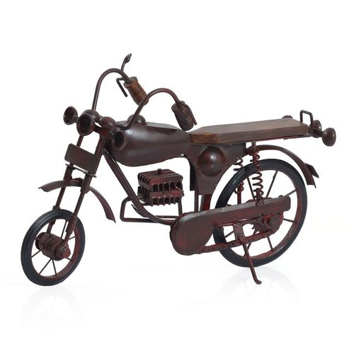 Handcrafted Vintage Style Chocolate Colour Motor Cycle