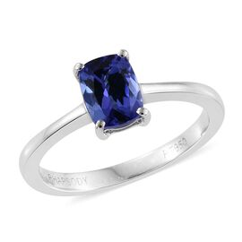 RHAPSODY 950 Platinum 1 Carat AAAA Tanzanite Solitaire Ring