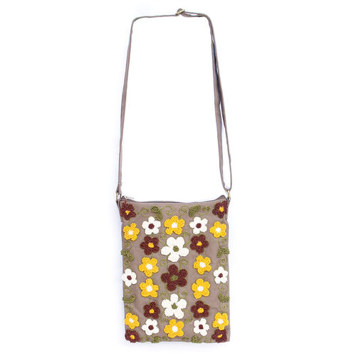Royal Bali Collection Floral Embroidery Shoulder Bag