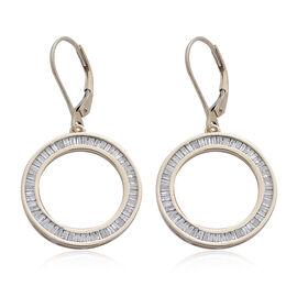 9K Y Gold SGL Certified Diamond (Bgt) (I3/ G-H) Lever Back Earrings 1.000 Ct., Gold wt 4.35 Gram