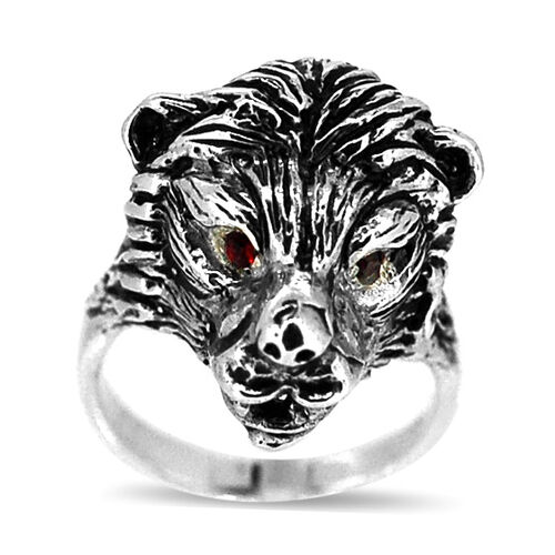 Red Austrian Crystal Ring in Sterling Silver