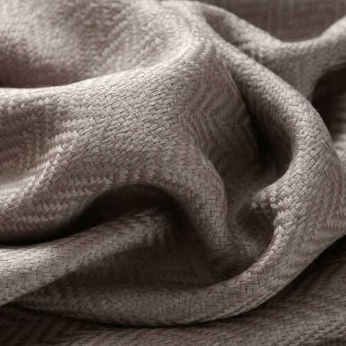 100% Cashmere Wool Light Brown Colour Scarf (Size 200x70 Cm)