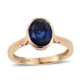 Ceylon Colour Quartz (Ovl) Solitaire Ring in 14K Gold Overlay Sterling Silver 3.000 Ct.