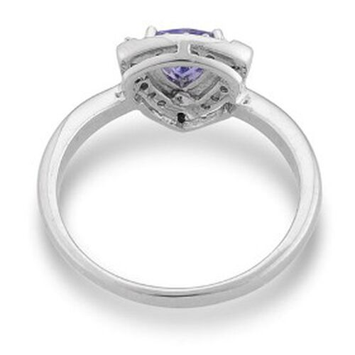 KARIS Collection - Tanzanite (Trl) White Topaz Ring in Platinum Bond  0.49 Ct.