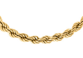 Close Out Deal 9K Y Gold Rope Chain (Size 20), Gold wt. 10.40 Gms.