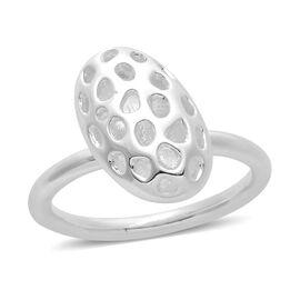 RACHEL GALLEY Sterling Silver Charmed Pebble Lattice Ring, Silver wt 4.41 Gms.