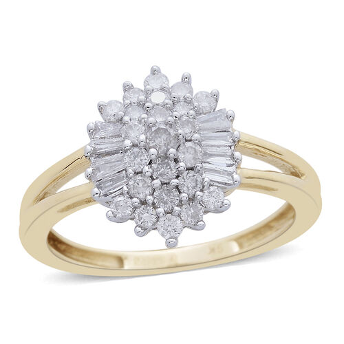 9K Y Gold SGL Certified Diamond (Rnd) (I 3/G-H) Ring 0.503 Ct.