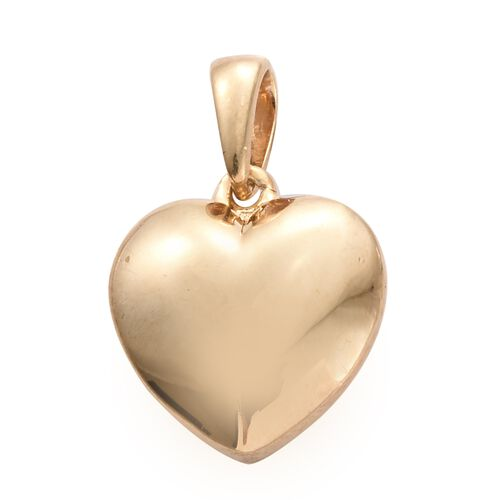 Silver Heart Pendant in Gold Overlay