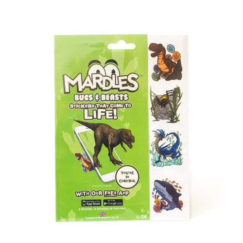 (Option 1) Bugs and Beasts Duo pack Includes 24 Mardles Stickers (12 each of Bugs, Beasts and Really Wild) .