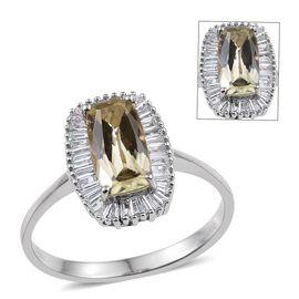 RHAPSODY 950 Platinum AAAAA Natural Turkizite (Cush 1.75 Ct), Diamond (VS/E-F) Ring 2.150 Ct.