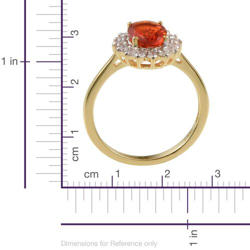 14K Y Gold Jalisco Fire Opal (Ovl 0.75 Ct), Diamond Ring 1.050 Ct.