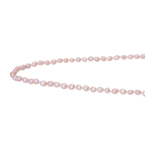 Fresh Water Peach Pearl Necklace (Size 100)