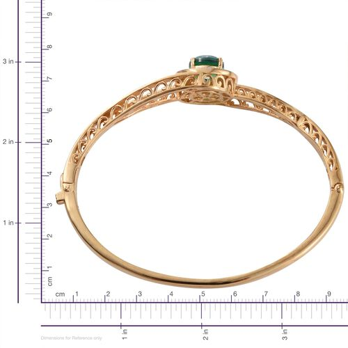 Peacock Quartz (Rnd) Bangle (Size 7.5) in ION Plated 18K Yellow Gold Bond 3.750 Ct.
