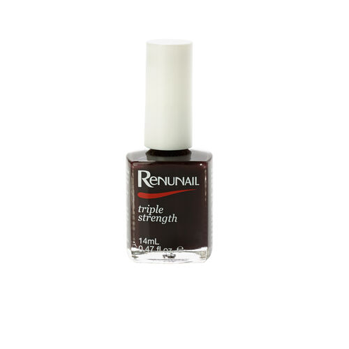 (Option 1) Dr Lewins- Renunail Black Plum 14ml with 3D Top Coat 14ml