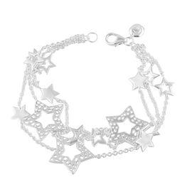 RACHEL GALLEY Sterling Silver Shimmer Star Bracelet (Size 7.5), Silver wt 11.00 Gms.