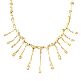LucyQ Short Multi Drip Necklace (Size 16 with 4 inch Extender) in Yellow Gold Overlay Sterling Silver 43.50 Gms.