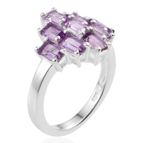 Rose De France Amethyst (Oct) Ring in Sterling Silver 2.250 Ct.