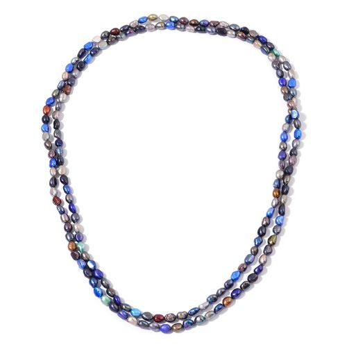 (Option 1) Fresh Water Multi Colour Pearl Necklace (Size 64)