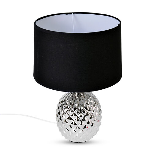 Silver Plating Colour Ceramic Stone Pineapple Shape Table Lamp (Size 39x26x10 Cm)