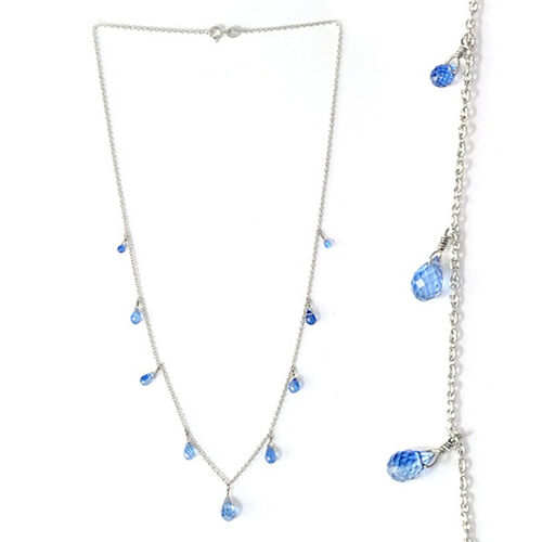 Platinum Overlay S S Himalayan Kyanite Necklace  5.92  Ct.