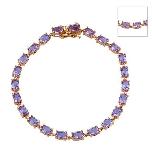 Lavender Alexite (Ovl) Bracelet (Size 7.5) in 14K Gold Overlay Sterling Silver 8.750 Ct.