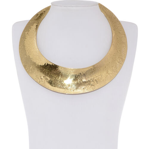 (Option 2) Gold Plated Brass Choker Necklace (Size 14)