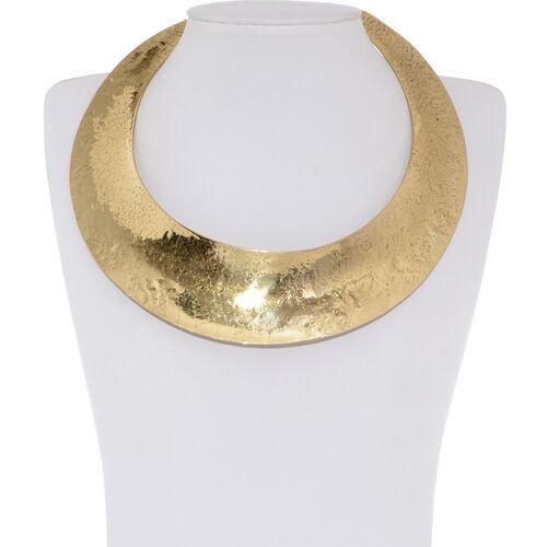 (Option 2) Gold Plated Brass Choker Necklace (Size 14)