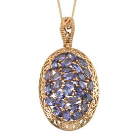 Tanzanite (Ovl) Pendant With Chain in 14K Gold Overlay Sterling Silver 5.000 Ct.