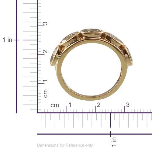 Espirito Santo Aquamarine (Ovl) 5 Stone Ring in 14K Gold Overlay Sterling Silver 2.000 Ct.
