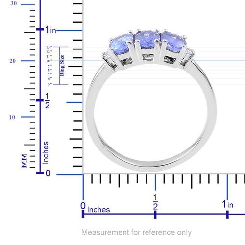 14K W Gold AA Tanzanite (Ovl), Diamond Ring 1.363 Ct.