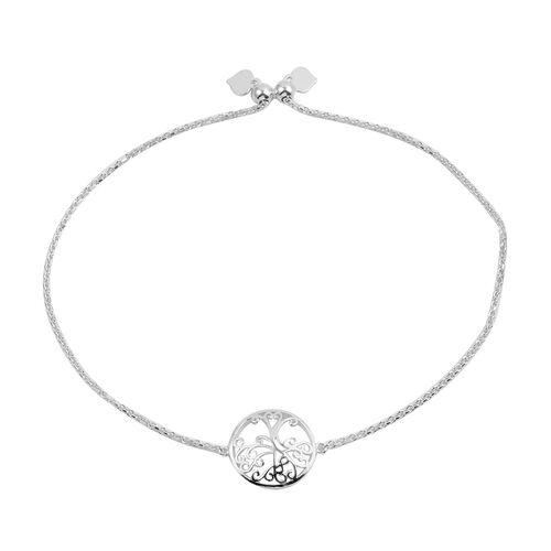 JCK Vegas Collection Sterling Silver Adjustable Filigree Bracelet (Size 6 to 9)