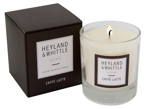 Heyland and Whittle Cafe Latte Candle in Glass Jar 220g