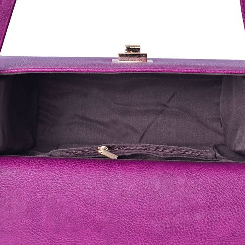 Marylebone Classic Deep Purple Colour Crossbody Bag with Adjustable and Removable Size (Size 27x20x9 Cm)