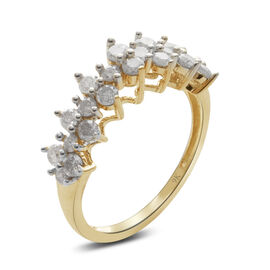 9K Y Gold SGL Certified Diamond (Rnd) (I3/ G-H) Ring 1.000 Ct.